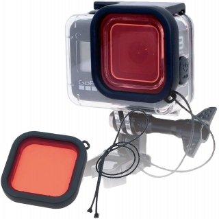 HERO8Black 対応 水中用フィルター 赤 レンズフィルター 当社製防水ハウジング対応 防水ケース用 ダイビングフィルター 海中 GLD3938MJ10