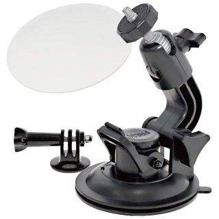 GoPro(ゴープロ)用アクセサリー ボールヘッド大型吸盤マウント & ゲルタックシート (90mm)  GLD3976GP70J