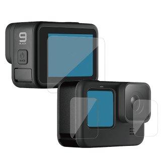 GoPro(ゴープロ)用 HERO9Black対応 アクセサリー 保護フィルム ガラスフィルム ハード 液晶保護 フィルム ガラス 液晶フィルム GLD4768MJ102