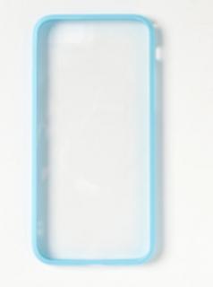 メタルバンパークリアiPhoneカバー(iphone7対応)サックスブルー