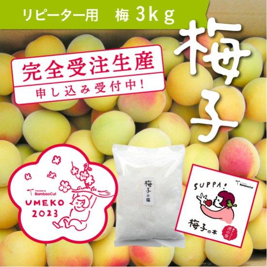 3kg  だれでもおいしく梅干しづくりキット梅子2020(リピーター用)【受付終了】