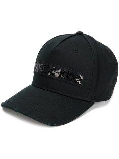 【DSQUARED2】キャップ / spangles cap<Black>