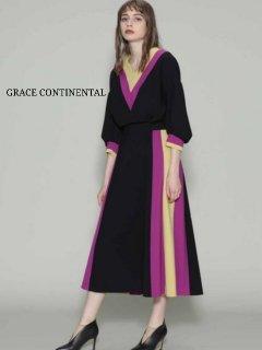 【GRACE CONTINENTAL】トリアセカラーブロックスカート