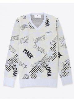 【MARK&LONA】Cosmic star v pullover(MEN)【全2色】