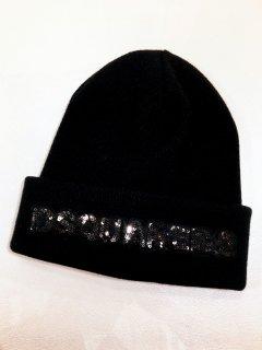 【DSQUARED2】 スパンコールニット帽<Black>