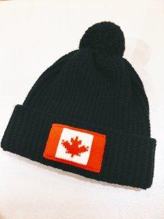 【DSQUARED2】ニット帽 / Canadian flag knit beanie<Black>