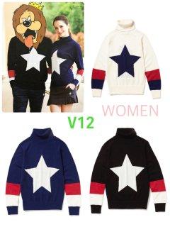 【V12】ONE STAR T/N(WOMEN)【全3色】