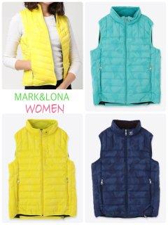 【MARK&LONA】Gage Packable  Down Vest(WOMEN)【全3色】
