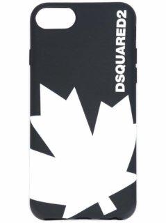 【Dsquared2】iPhone 8 Cover カバー(ブラック&ホワイト)