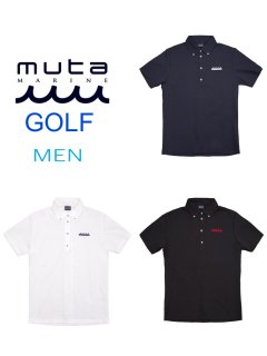 【muta MARINE GOLF】ACANTHUS×muta MARINE BACK LINE POLO(MEN)【全3色】
