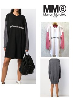 <img class='new_mark_img1' src='https://img.shop-pro.jp/img/new/icons13.gif' style='border:none;display:inline;margin:0px;padding:0px;width:auto;' />【MM6】T-Shirt layered knitted dress【全2色】
