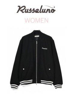 <img class='new_mark_img1' src='https://img.shop-pro.jp/img/new/icons13.gif' style='border:none;display:inline;margin:0px;padding:0px;width:auto;' />【Russeluno】JERSEY BOMBER JACKET(WOMEN)【BLACK】
