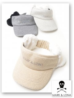 <img class='new_mark_img1' src='https://img.shop-pro.jp/img/new/icons13.gif' style='border:none;display:inline;margin:0px;padding:0px;width:auto;' />【MARK&LONA】Jessica Earmuff Knit Visor【全3色】