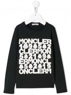 【MONCLER KIDS】ロゴTシャツ【ブラック】
