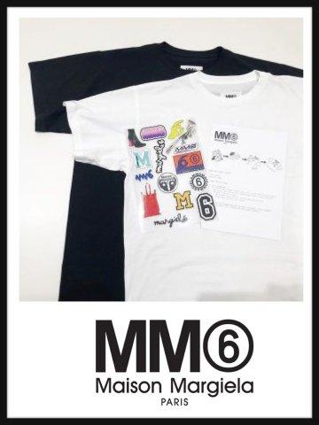 【MM6】ワッペン付きオーバーサイズTシャツ(WOMEN)【全2色】