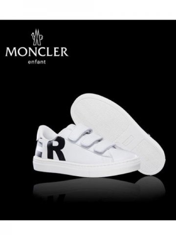 <img class='new_mark_img1' src='https://img.shop-pro.jp/img/new/icons13.gif' style='border:none;display:inline;margin:0px;padding:0px;width:auto;' />【MONCLER KIDS】レザースニーカー MARTIN【WHITE】