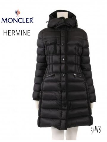 <img class='new_mark_img1' src='https://img.shop-pro.jp/img/new/icons13.gif' style='border:none;display:inline;margin:0px;padding:0px;width:auto;' />【MONCLER】HERMINE ロングダウンコート(WOMEN)【BLACK】