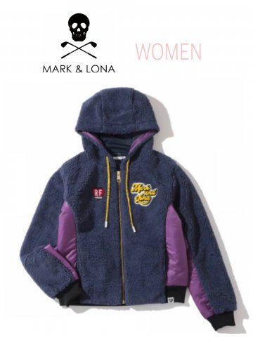 <img class='new_mark_img1' src='https://img.shop-pro.jp/img/new/icons13.gif' style='border:none;display:inline;margin:0px;padding:0px;width:auto;' />【MARK&LONA】Patty Boa Fleece Jacket(WOMEN)【NAVY】