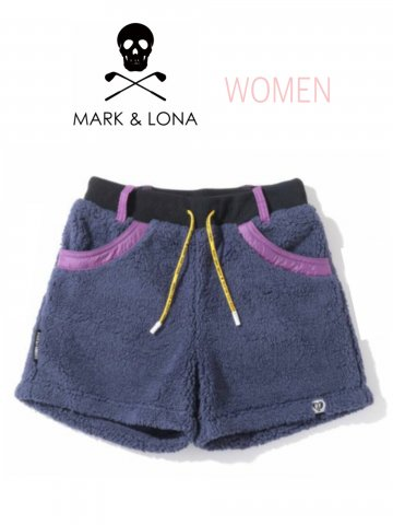 <img class='new_mark_img1' src='https://img.shop-pro.jp/img/new/icons13.gif' style='border:none;display:inline;margin:0px;padding:0px;width:auto;' />【MARK&LONA】Patty Boa Fleece Shorts(WOMEN)【NAVY】