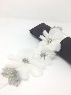 【Import-New】 White by Vera Wang VW371411 (ホワイトバイヴェラウォン フラワーサッシュベルト)