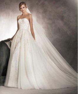 【Rental】 Pronovias Abril(プロノビアス オーバースカートウェディングドレス)US4