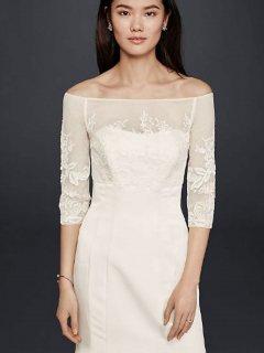 【Import-New】  David's Bridal Bijoux オフショルダーボレロ 2色展開