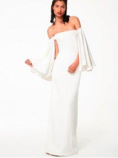 【Import-Used 70%OFF】Houghton Gamila(ホートン オフショルダーウェディングドレス) 9号