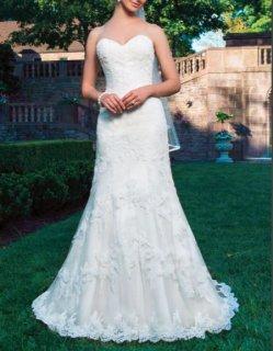 ★未使用品★【Used 41%OFF】 Sincerity Bridal by Justine Alexander(マーメイドウェディングドレス)9号