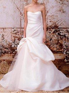 【Import Used 67%OFF】 Monique Lhuillier (モニーク・ルイリエ シルクトランペットウェディングドレス) 9号