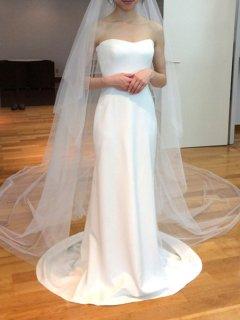 【Used 59%OFF】 Carolina Herrera Carolina(キャロリーナヘレラ ボレロ付きウェディングドレス)Size2