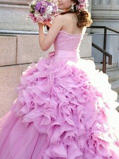 【Used 47%OFF】 Vera Wang Hayley Petal Pink (ヴェラウォン ピンクヘイリー) US8 丈カットなし、ウェスト・ヒップUS4相当にお直し   ★プレスサービス込み