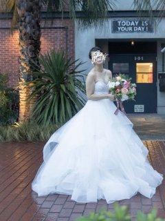 【Used 73%OFF】 Hayley Paige Londyn(ヘイリー・ペイジ ホースヘアウェディングドレス)7号