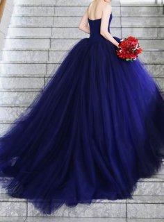 【Used 41%OFF】 Vera Wang Fernanda Shade Blue(ヴェラウォン フェルナンダシェードブルー) US0相当お直し※丈カットあり