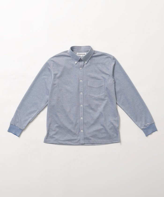 鹿の子ニットシャツ Men's