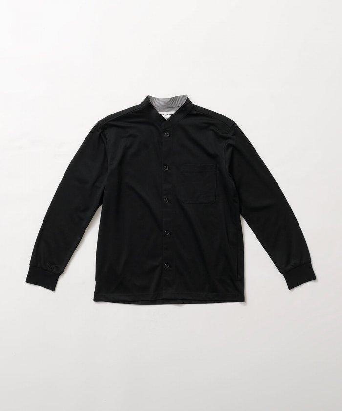 マオカラーストライプシャツ Men's