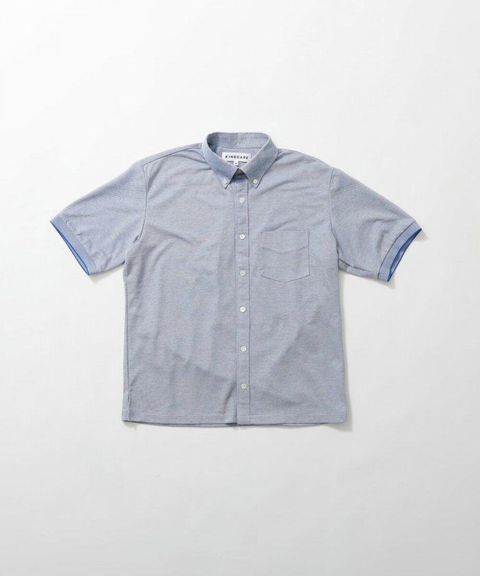 鹿の子ニットシャツ 半袖 Men's