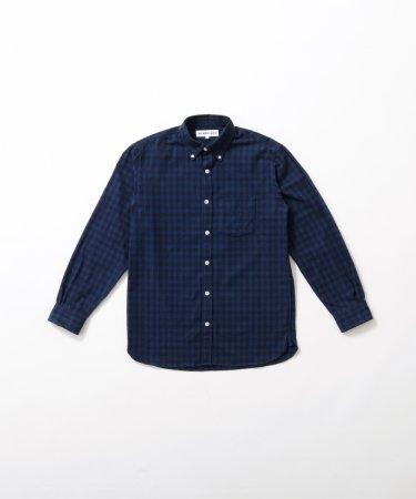 ギンガムチェック綿ネルシャツ Men's