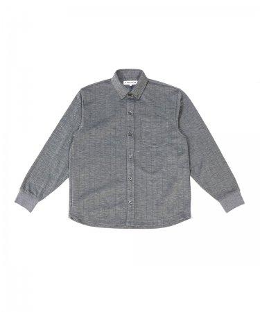 先染めストライプ ニットシャツ【紳士】