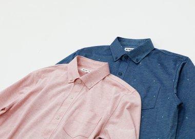 先染 ニットシャツ 【Men's】