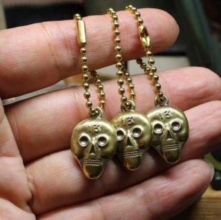 M&W works<BR>13 skull keyholder<BR>brass 真鍮製