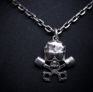 M&W works<BR>THE WILD ONE<BR>B.R.M.C skull charm silver925