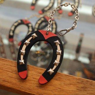 leather horseshoe charm