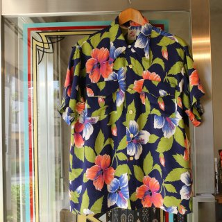 Vintage 1940s〜1950s<BR>Ashfield Hawaiian shirt