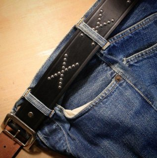 The WILD ONE BELT<BR>Studs model