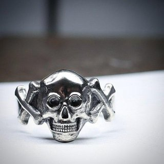 M&W works<BR>skull & bone ring<BR>silver925