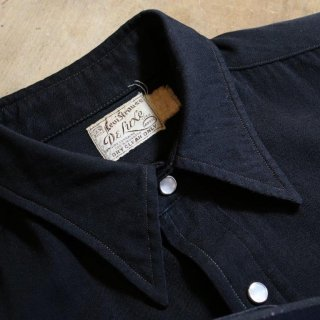 vintage 1940S~<BR>Levis western shirt<BR>Black color