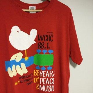 """WCHC 88.1fm Tシャツ """"ウッドストック"""""""