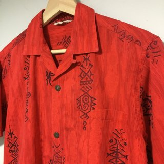 〜60s Tropicana cotton Hawaiian Shirt 赤