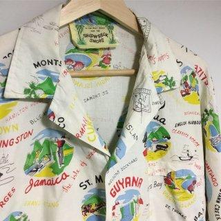 60s~70s 南米柄 ジャマイカシャツ