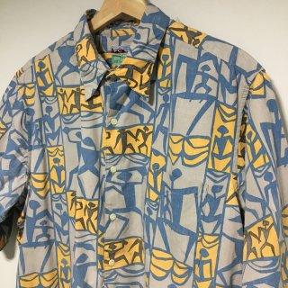 80s〜90s ダイヤモンドヘッドタグ レインスプーナー アロハシャツ